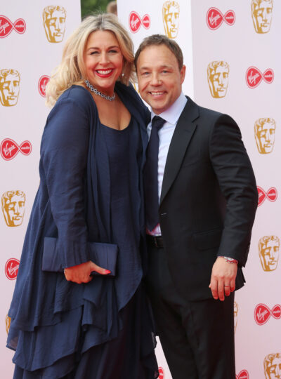 Stephen Graham and his wife Hannah Walters on the red carper