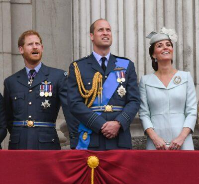 Prince Harry alongside William and kate