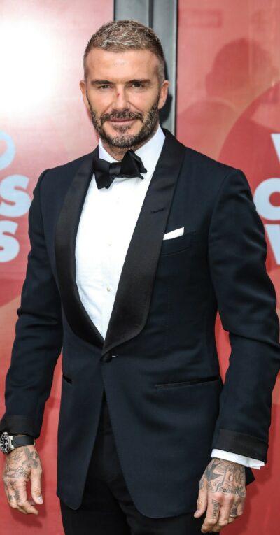 David Beckham at the Who Cares Wins awards