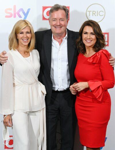Piers Morgan reunites with Kate and Susanna at the TRIC Awards 2021