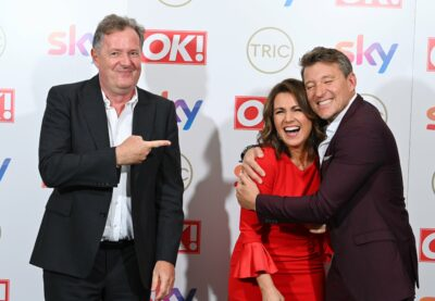 Piers Morgan with Susanna and Ben at the TRIC Awards 2021