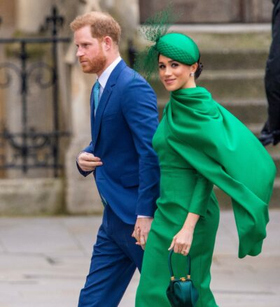 Harry and Meghan during royal engagement