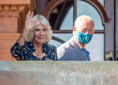 Camilla and Prince Charles during royal engagement
