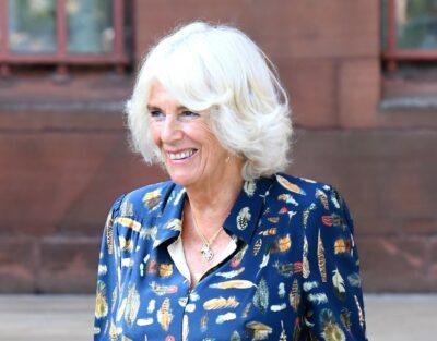 Camilla smiles during a royal engagement
