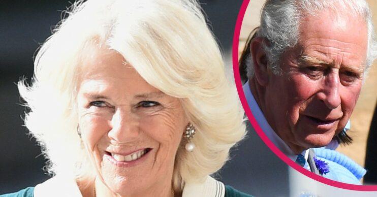 Camilla and Prince Charles smile during royal engagements