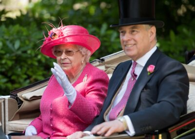 The Queen and Prince Andrew during royal engagement