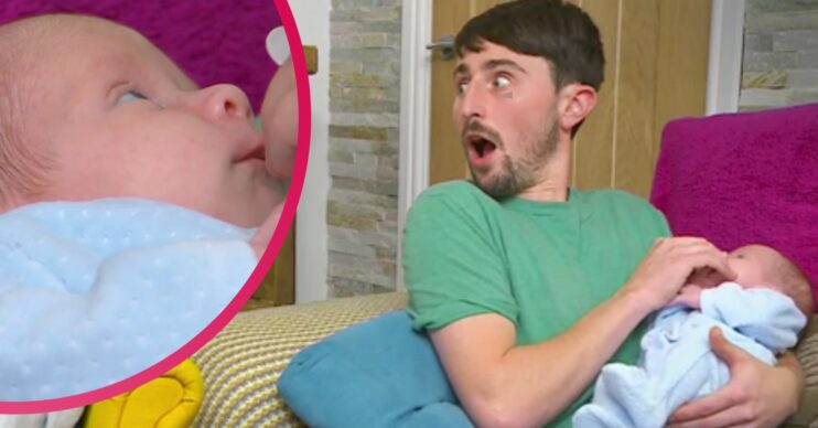 Pete Sandiford introduced his baby son to Gogglebox viewers