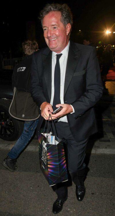 Piers Morgan beams