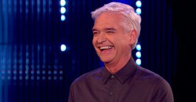 Phillip Schofield laughs on The Cube