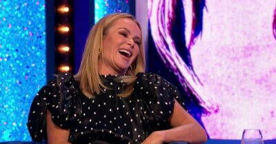 Amanda Holden laughs on the Paul O'Grady show
