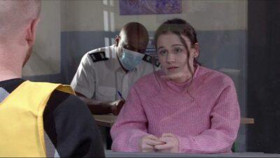 Faye Windass in prison in Coronation Street