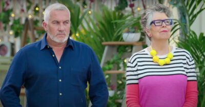 Paul Hollywood and Prue Leith prepare to judge baking efforts on Bake Off