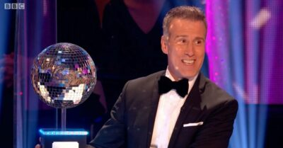 Anton du Beke with the Glitterball trophy