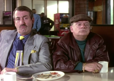 John Challis with Sir David Jason in Only Fools And Horses