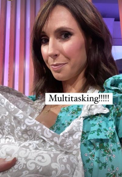 Alex Jones breastfeeding on One Show