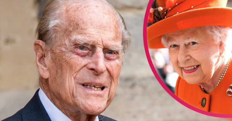 Prince Philip and the Queen smiling
