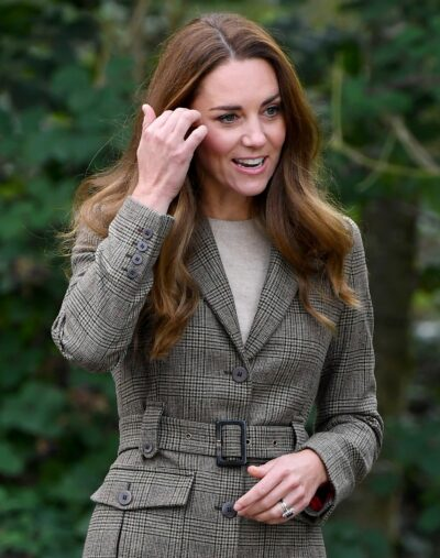 Kate Middleton smiles during royal engagement