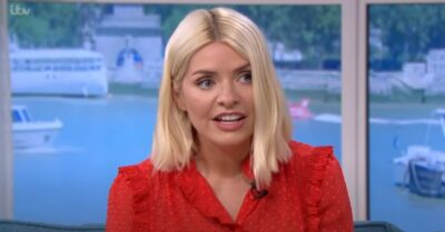 Holly Willoughby wears red dress on This Morning
