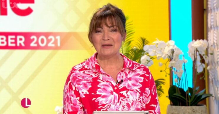 Lorraine Kelly on her show today