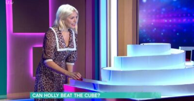 Holly Willoughby playing The Cube on This Morning