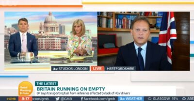 Ben Shephard and Kate Garraway interview Grant Shapps on GMB