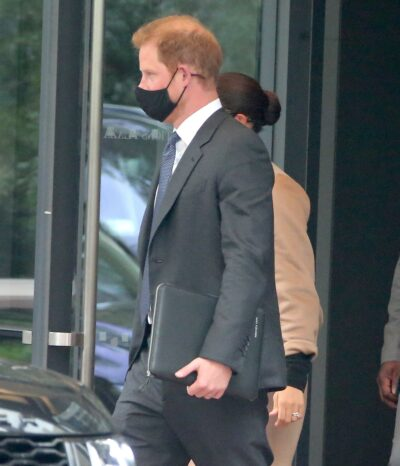 Prince Harry shows off laptop case with tribute to Archie