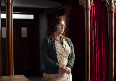 TESSA PEAKE-JONES as Mrs Chapman in Grantchester