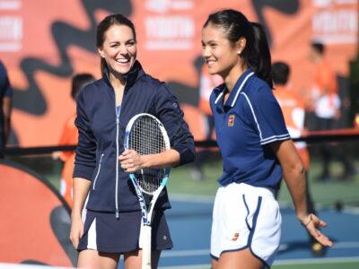 Kate Middleton plays tennis with Emma Raducanu