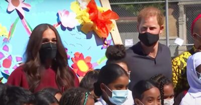 Meghan Markle and Prince Harry in Harlem, New York