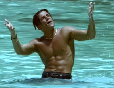 Peter Andre in his Mysterious Girl video