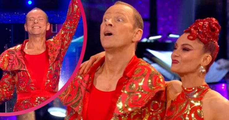 Robert Webb certainly made an effort with his facial expressions on Strictly Come Dancing