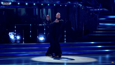 John Whaite performs on strictly Come Dancing week 1