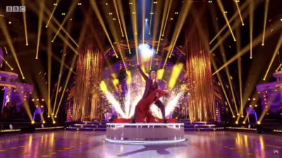Dan Walker performs on strictly Come Dancing week 1