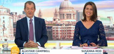 Alastair Campbell hosts GMB alongside Susanna Reid
