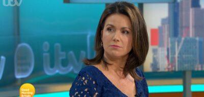 Susanna Reid looks at Alastair Campbell on GMB