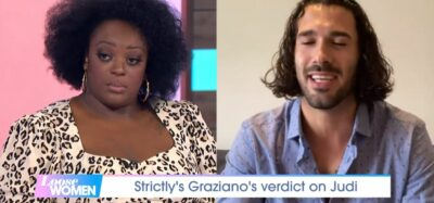 Judi Love with Strictly partner Graziano on Loose Women