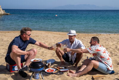 Gordon, Gino and Fred Go Greek delighted viewers last night