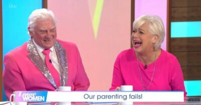 Denise Welch with her dad on Loose Women