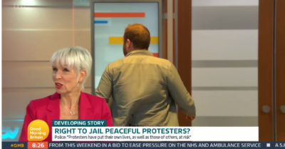 Climate protester storms off GMB after debating news
