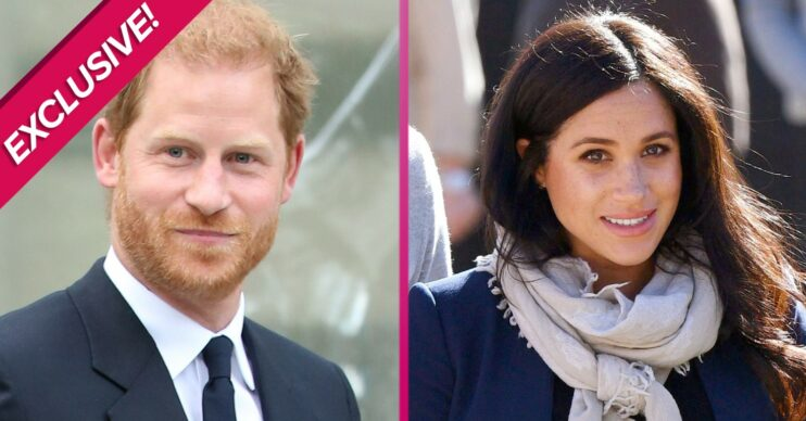 Harry and Meghan smile during outings