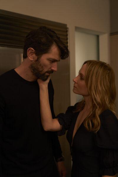 Michiel Huisman and Joanne Froggatt in Angela Black