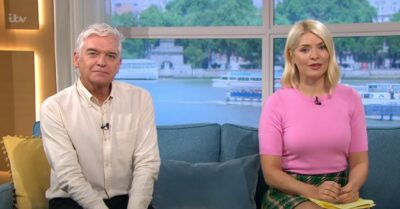 Holly Willoughby stuns in pink outfit on This Morning