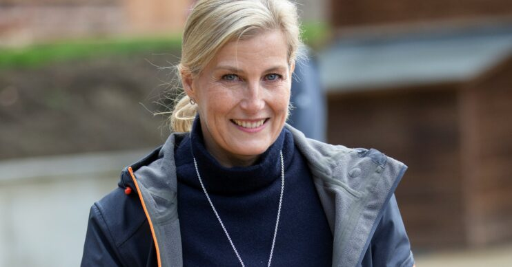 Sophie, Countess of Wessex smiles while out