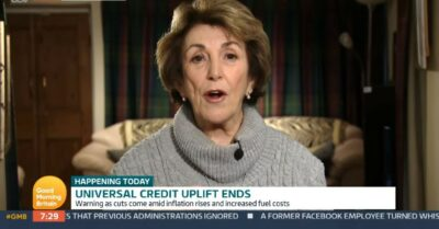 Edwina Currie appears on GMB today