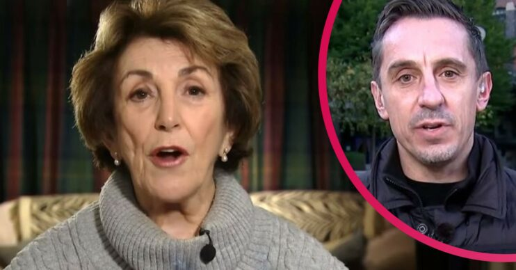 Edwina Currie debates with Gary Neville on GMB today