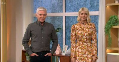Holly Willoughby stuns in autumn dress today