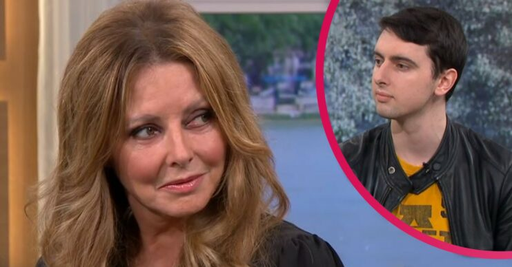 Carol Vorderman and son Cameron on This Morning