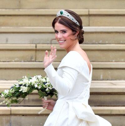 Princess Eugenie on her wedding day as Sarah Ferguson reveals son August's new trait