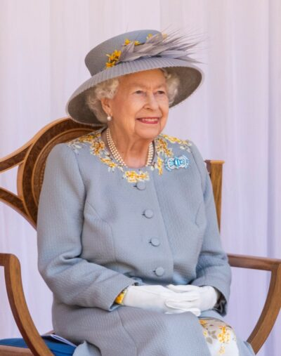 The Queen during Trooping the Colour