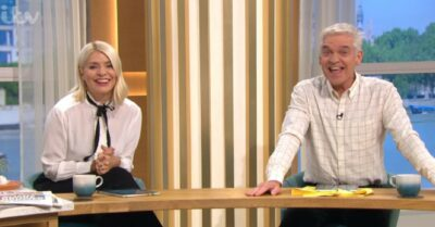 Holly Willoughby stuns in white blouse today on This Morning
